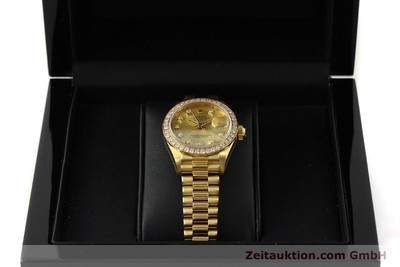 ROLEX LADY 18K (0,750) GOLD OYSTER DATEJUST DAMENUHR DIAMANTEN VP: 29650,- EURO [151392]