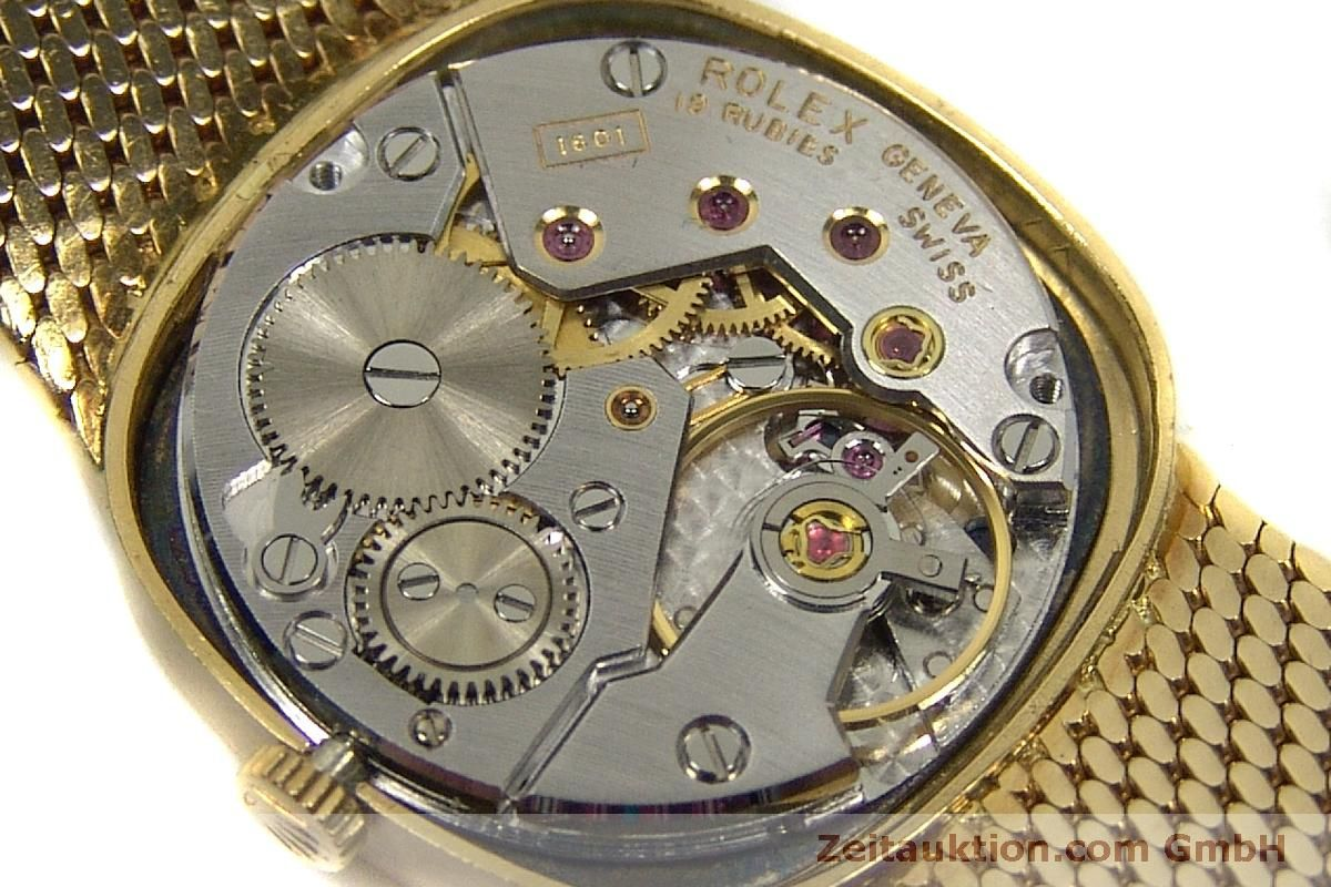 Ref746 Rolex 18 Cellini Oro Cuerda Manual Quilates Kal1601 De fg7yb6
