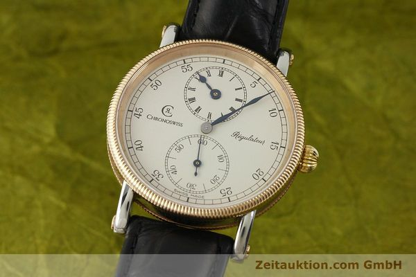 CHRONOSWISS REGULATEUR ACIER / BRONZE REMONTAGE MANUEL KAL. UNITAS 6376 [151448]