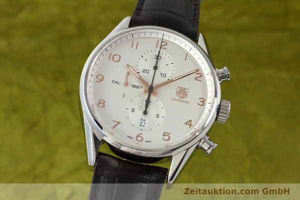 TAG HEUER CARRERA CHRONOGRAPH STEEL AUTOMATIC KAL. 1887 LP: 4300EUR [151458]
