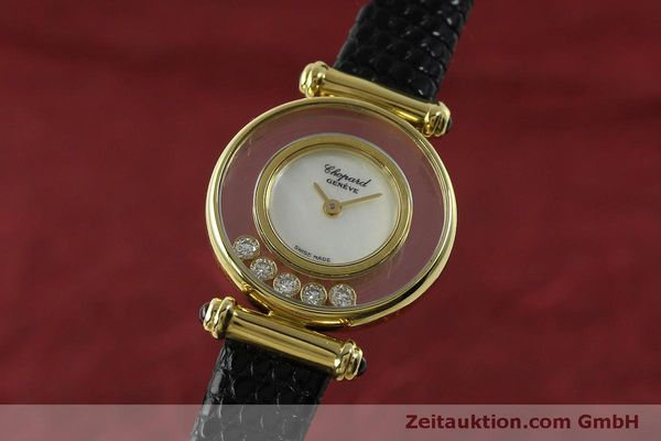 CHOPARD LADY 18K GOLD HAPPY DIAMONDS DAMENUHR DIAMANTEN REF 4780 VP: 10940,-EUR [151511]