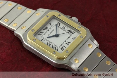 CARTIER SANTOS ACIER / OR AUTOMATIQUE KAL. ETA 2671 LP: 7100EUR [151537]