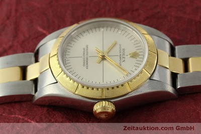 ROLEX LADY OYSTER PERPETUAL ZEPHYR GOLD / STAHL DAMENUHR 76243 VP: 6950,- Euro [151564]