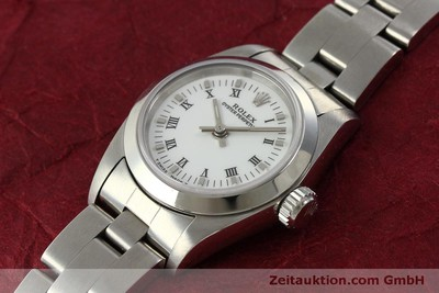 ROLEX LADY OYSTER PERPETUAL NO DATE STAHL AUTOMATIK DAMENUHR 67180 VB: 3900,- Euro [151565]