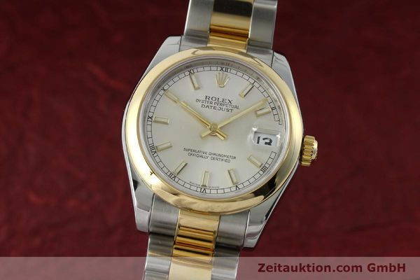 ROLEX LADY OYSTER DATEJUST 31 GOLD / STAHL DAMENUHR MEDIUM 178243 VP: 7350,-Euro [151639]