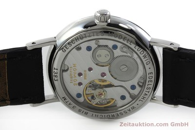 NOMOS LUDWIG STEEL MANUAL WINDING KAL. ALPHA 73905 LP: 1460EUR [151707]