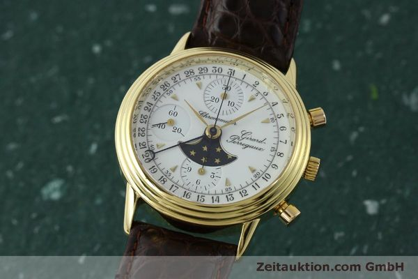 GIRARD PERREGAUX 4745 CHRONOGRAPHE OR 18 CT AUTOMATIQUE KAL. VALJ.  7750 LP: 25600EUR  [151735]