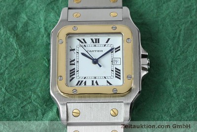 CARTIER SANTOS STEEL / GOLD AUTOMATIC KAL. ETA 2671 LP: 7100EUR [151754]
