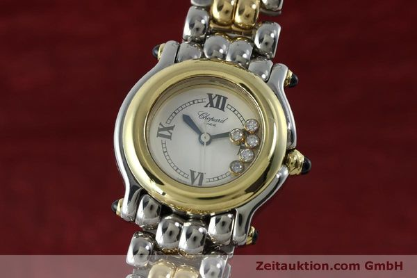CHOPARD LADY HAPPY SPORT DIAMANTEN DAMENUHR GOLD / STAHL 8256 VP: 13930,- EURO [151775]