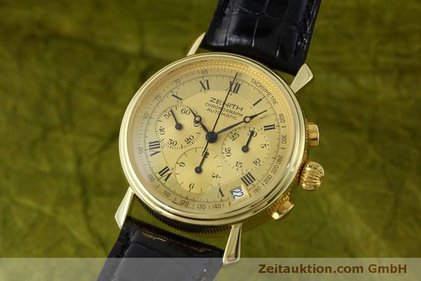 ZENITH CHRONOGRAPH 18 CT GOLD AUTOMATIC KAL. 400 LP: 16300EUR [151779]