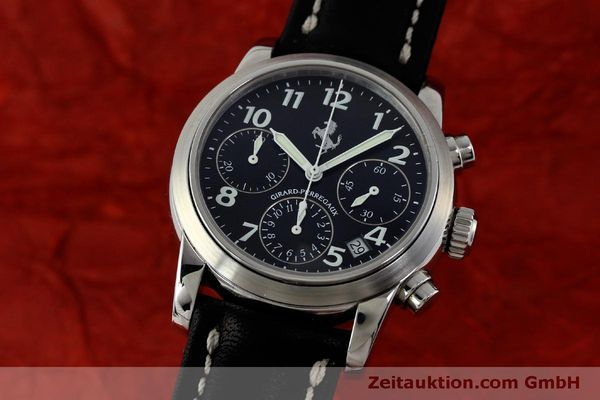 Used luxury watch Girard Perregaux Ferrari chronograph steel automatic Kal. 2280 Ref. 8020  | 151829 04
