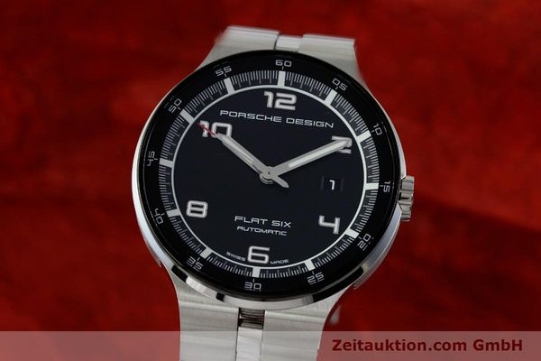 PORSCHE DESIGN FLAT SIX ACIER AUTOMATIQUE KAL. SELLITA SW200-1 LP: 2250EUR [151838]