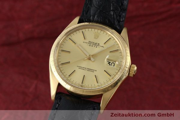 ROLEX DATE 18 CT GOLD AUTOMATIC KAL. 1570 LP: 19050EUR [151845]