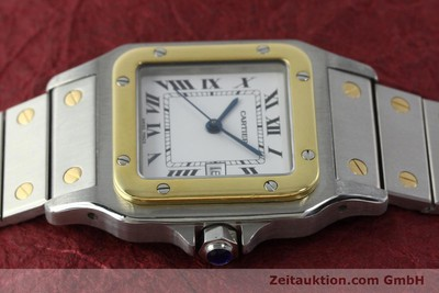 CARTIER SANTOS STEEL / GOLD AUTOMATIC KAL. 077 ETA 2671 LP: 7100EUR [151888]