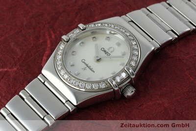 OMEGA LADY CONSTELLATION MY CHOICE EDELSTAHL DAMENUHR DIAMANTEN VP: 3900,- EUR [151912]