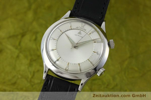 JAEGER LE COULTRE MEMOVOX STEEL MANUAL WINDING KAL. 814 LP: 0EUR VINTAGE [151923]
