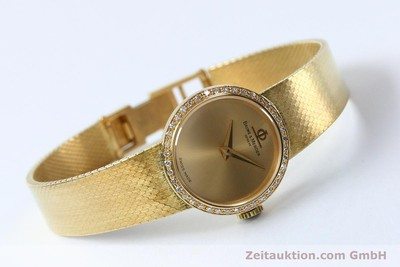 BAUME & MERCIER LADY 18K (0,750) GOLD DAMENUHR DIAMANTEN VP: 8550,- EURO [151926]