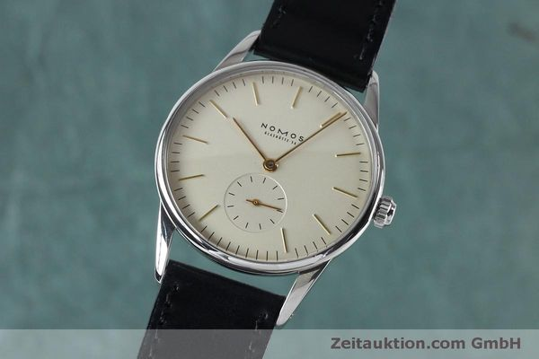NOMOS ORION ACERO CUERDA MANUAL KAL. ETA 7001 LP: 1400EUR [151932]