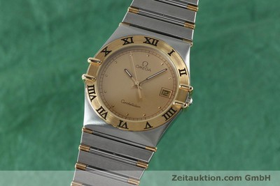 OMEGA CONSTELLATION STAHL / GOLD HERRENUHR KLASSIKER DATUM VP: 3220,- EURO [151937]