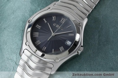 EBEL CLASSIC WAVE HERRENUHR EDELSTAHL 9187F41 DATE FULL SET VP: 1750, EURO [151947]