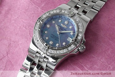 BREITLING LADY STARLINER DAMENUHR STAHL BRILLANTEN DIAMANTEN DATUM VP: 8990,- Euro [151970]