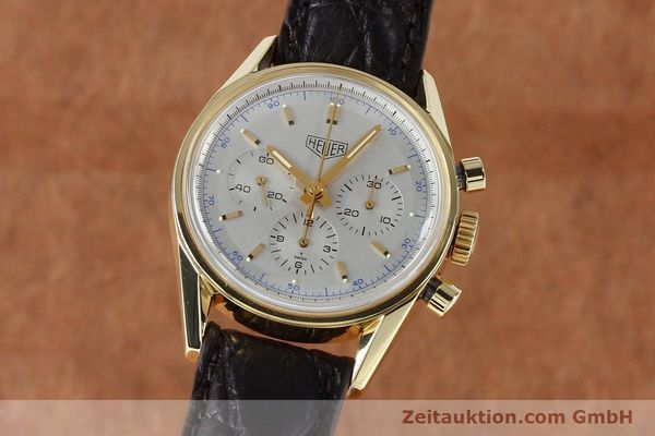 TAG HEUER 18K GOLD CARRERA HANDAUFZUG HERRENUHR CS3140 SELTENHEIT VP: 16300,- Euro [151984]