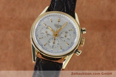 TAG HEUER CARRERA CHRONOGRAPH 18 CT GOLD MANUAL WINDING KAL. LWO1873 LP: 16300EUR [151984]
