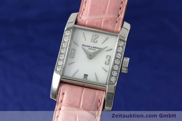 BAUME & MERCIER LADY HAMPTON DIAMANTEN EDELSTAHL DAMENUHR 65516 VP: 3700,- EURO [151996]