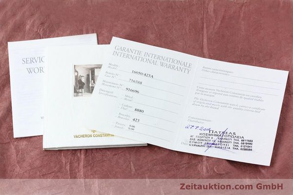 Used luxury watch Vacheron & Constantin Overseas steel quartz Kal. 1016 Ref. 16050/423A  | 151998 11