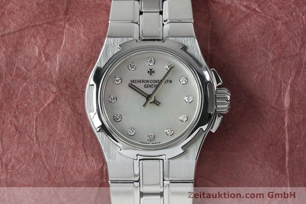 Used luxury watch Vacheron & Constantin Overseas steel quartz Kal. 1016 Ref. 16050/423A  | 151998 14