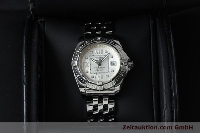 BREITLING LADY COCKPIT DAMENUHR STAHL BRILLANTEN DIAMANTEN DATUM VP: 4540,-EURO [152012]