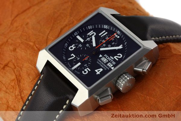 gebrauchte Luxusuhr Fortis Square Chronograph Chronograph Stahl Automatik Ref. 667.10.141  | 152025 01