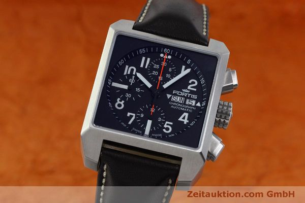 gebrauchte Luxusuhr Fortis Square Chronograph Chronograph Stahl Automatik Ref. 667.10.141  | 152025 04