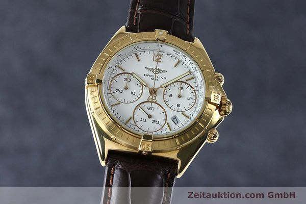 BREITLING SEXTANT CHRONOGRAPHE OR 18 CT QUARTZ KAL. 1270 LP: 16800EUR [152032]