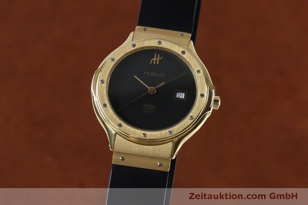 HUBLOT MDM 18 CT GOLD QUARTZ KAL. ETA 956412 LP: 14400EUR [152039]