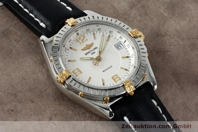 BREITLING WINGS ACIER / OR AUTOMATIQUE KAL. B10 ETA 2892A2 LP: 3930EUR [152125]