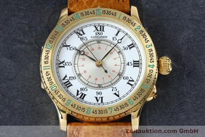 LONGINES LINDBERGH STUNDENWINKEL OR 18 CT AUTOMATIQUE KAL. L989.2 LP: 10780EUR [152142]