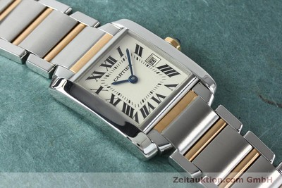 CARTIER TANK ACIER / OR QUARTZ KAL. 175N LP: 6650EUR [152148]