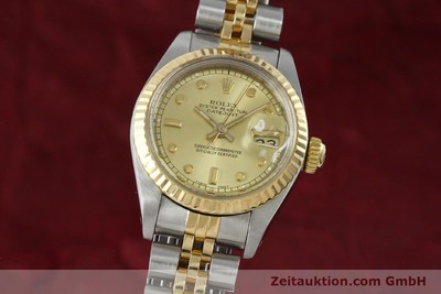 ROLEX DATEJUST ACIER / OR AUTOMATIQUE KAL. 2135 LP: 6950EUR [152205]