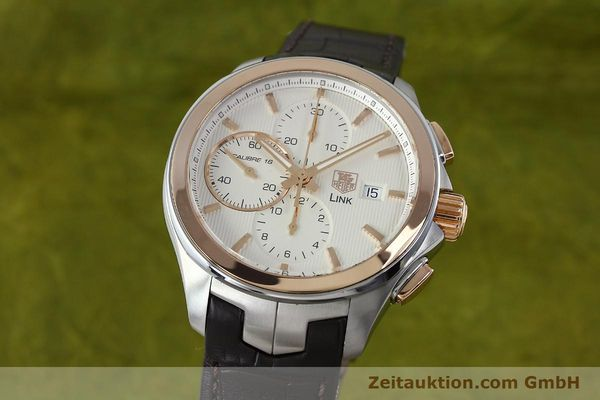 TAG HEUER LINK CHRONOGRAPH STEEL / GOLD AUTOMATIC KAL. 16 SELLITA SW500 LP: 6050EUR [152230]