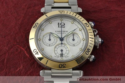 CARTIER PASHA CHRONOGRAPH STEEL / GOLD AUTOMATIC KAL. 205 LP: 15100EUR [152233]