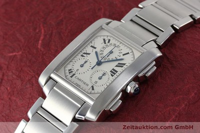 CARTIER TANK CHRONOGRAPH STEEL QUARTZ KAL. 212P LP: 9550EUR [152234]