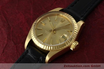 ROLEX LADY DATEJUST 18 CT GOLD AUTOMATIC KAL. 2030 LP: 20600EUR [152239]