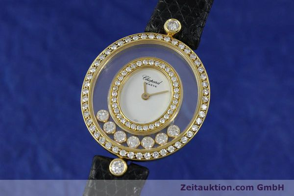 CHOPARD LADY 18K GOLD HAPPY DIAMONDS DAMENUHR DIAMANTEN REF 5236 VP: 12890,-EUR [152292]