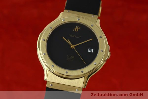 HUBLOT MDM 18 CT GOLD QUARTZ KAL. ETA 955412 LP: 14400EUR [152341]