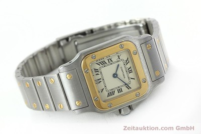 CARTIER SANTOS STEEL / GOLD QUARTZ KAL. 157 LP: 5600EUR [152374]
