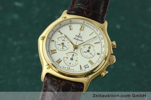 EBEL 1911 CHRONOGRAPH 18 CT GOLD AUTOMATIC KAL. 134 [152421]