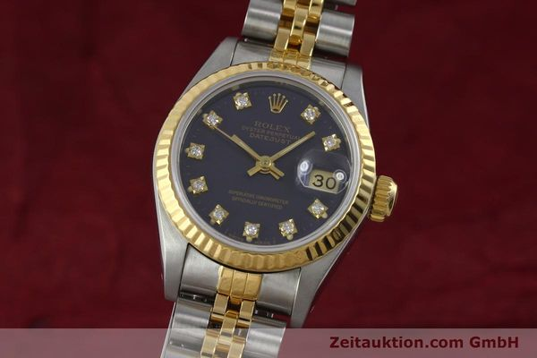 ROLEX LADY OYSTER DATEJUST GOLD /STAHL DAMENUHR DIAMANTEN REF 69173 VP: 9200,- Euro [152426]