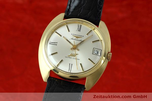 LONGINES ULTRA-CHRON 18K GOLD AUTOMATIK HERRENUHR REF. 8072-2 VP: 4200,- EURO [152460]