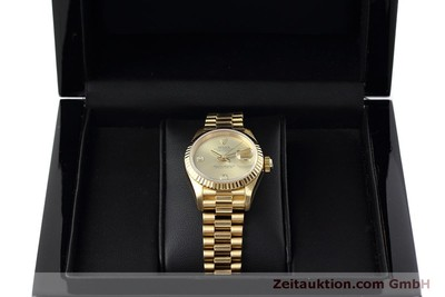 ROLEX LADY 18K (0,750) GOLD DATEJUST AUTOMATIK DAMENUHR 69178 VP: 20600,- EURO [152500]